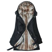 UK Womens Ladies Long Sleeve Winter Hoodies Coat Fur Jacket Overcoat Size 12-18