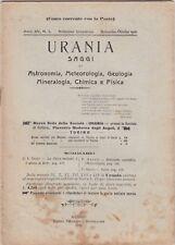 Urania, rivista, 1926, anno XV n. 5, astronomia, mineralogia, chimica, fisica