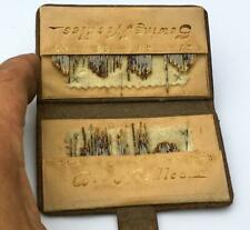 """ANTIQUE LEATHER """"PURSE TYPE"""" SEWING NEEDLE CASE"""