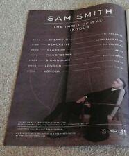 Sam Smith the thrill of it all uk tour newspaper magazine advert