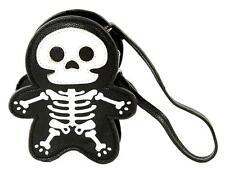 Cute Little Spooky Skeleton Wristlet Coin Purse Bag Goth Punk Alternative Grunge