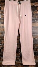 NWT Abercrombie & Fitch Women Skinny Logo Sweatpants Pants Light Pink L