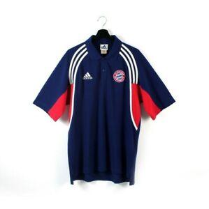 2000 adidas FC Bayern Munich Munchen vintage polo t-shirt tshirt EQT Equipment L