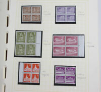 Berlin Freimarken Spezial ab Stadtbilder II, Paare, 4er-Blocks, ** + gestempelt
