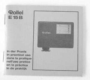Rollei E 15 B E15B Instruction Manual In Practical Use multi language