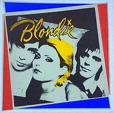 Original Vintage Blondie Iron On Transfer Music Band