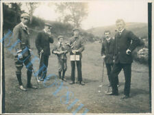 Edwardian men playing golf  Isle of Man 1905 Photo 4 x 3 inch