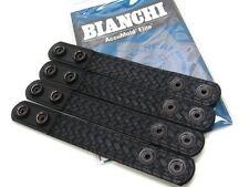 """BIANCHI Black 7906 Basketweave 1"""" BELT KEEPER  w/ Hidden Snaps 4 Pack! 22091"""