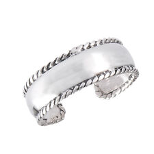 Sterling Silver Toe Ring w/ Fancy Grooved Border