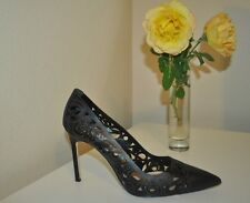 29372ff0859a New Listing 845+ Manolo Blahnik BB Roc Laser-Cut 105 mm Pump Shoe Black Sz  38.5 - 8.5.