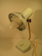 50er Jahre Design Lampe Tischleuchte aus Metall pastellfarben