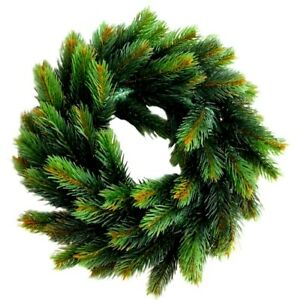Christmas Wreath Fake Plastic Grass Pine Looks Natural Home Decoration Green