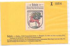 Reklamemarke Wappen von Lehnin Brandenburg  um 1925 (B538)