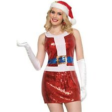 Forum Sequin Santa Claus Dress M/l - Ladies Christmas Fancy Adults Elf Costume