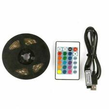1M 5V USB LED Strip Light SMD5050 RGB Waterproof IR Remote Controller TV PC Back