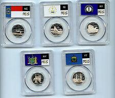 2001 S 5 State Silver Set Quarter PCGS Graded PR69 DCAM Proof 25 Cent coin