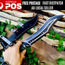 LARGE Fixed Blade Hunting Knife Camping Survival Fishing Pocket Knife-58 HRC AU