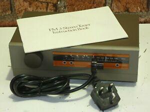 Quad FM 3 Vintage Hi Fi Use FM Radio Tuner + Manual & Mains Lead