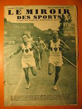Miroir des Sports 849-17/9/0935-800 m France-Allemagne-Finck,Lang,Petit,Soulier