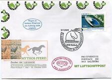 2003 Luftschiffpost n. 33 Pro Juventute Dirigibile OE-ZHY Mythos Pferd Koflach