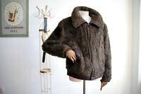 VEB mabe Kunstpelzjacke Jacke DDR Gr 56 Kunstfell Fur Jacket 70iger True Vintage