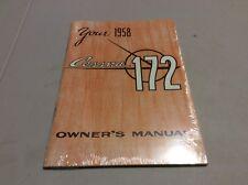 1958 Cessna 172 Owner's Manual