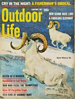 Outdoor Life Magazine February 1967 - New Ozark Bass Lake - Kuhn Cover - GD