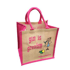 """""""Gin is Great"""" Jute Shopper from These Bags Are Great"""