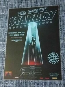 THE WEEKND - WEEKEND 2017 AUSTRALIA TOUR POSTER - SIGNED AUTOGRAPHED - LAMINATED