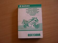 Fahrerhandbuch Suzuki GSX R 1300 R Hayabusa Modelljahr 1999 Betriebsanleitung