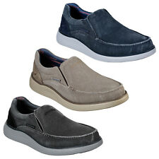 Skechers Status 2.0 - Mosent Trainers Mens Slip On Canvas Loafers Shoes 66014