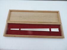 EXQUSITE VINTAGE ANTIQUE ENGRAVED JAPANESE STERLING SILVER CHOPSTICKS 25 grams