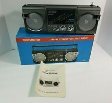 Vintage New NOS Westminster AM/FM Stereo Portable Radio Mini Boombox FS-2000
