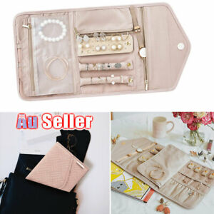 Foldable Jewelry Case Travel Organiser For Journey Jewellery Pouch Roll