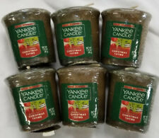 Yankee Candle Votives: CHRISTMAS THYME Wax Melts Lot of 6 Green Wax New