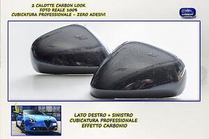 Calotte Giulietta 2011> Nero per Specchietti retrovisori calotta in carbon look