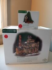 Department 56 Williams Gas Works #58709 & London Gas Worker #58576 Outside Lamps