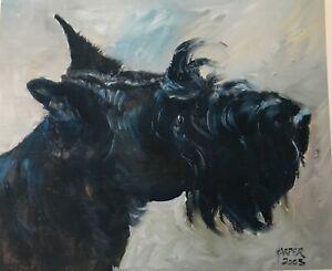 SALE Scottish Terrier Signed Dog Print by Susan Harper Unmounted
