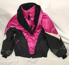 Vintage 90s POLARIS Womens Small Pink Snowmobile Jacket Coat
