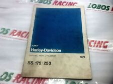 CATALOGO RICAMBI ORIGINALE HARLEY DAVIDSON SS 125 1975 SPARE PARTS CATALOGUE