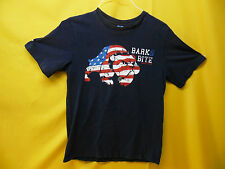"AMERICAN FLAG BULLDOG T-SHIRT ""BARK & BITE SINCE 1776"" COLLECTIBLE TEE (XL)"