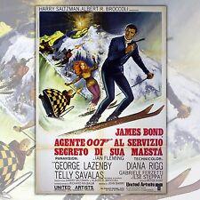 Original Poster 007 James Bond Al Servizio Segreto Di Sua Maestà - 100x140 CM