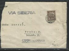 CHINA POSTAL HISTORY (P2604B) MANCHURIA 1938 COVER TO CZECHOSLOVAKIA