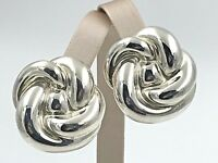 VINTAGE Jean Frederic Duclos .925 Sterling Silver, Electroform Clip-On Earrings