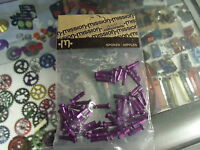 MISSION ALLOY ANODIZED PURPLE 14G 2.0MM--50 IN A BAG--BICYCLE SPOKE NIPPLES