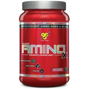 BSN AMINO X Endurance & Recovery Drink BCAA , 70 Servings BUILD MUSCLE