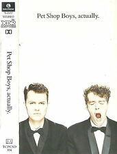 PET SHOP BOYS ACTUALLY CASSETTE ALBUM ELECTRONIC SYNTH-POP Parlophone