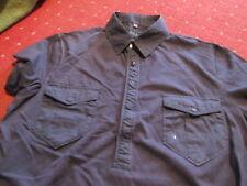 "Mens T-shirt Gents polo neck navy blue top &  pockets M medium  38"" - 40"" chest"