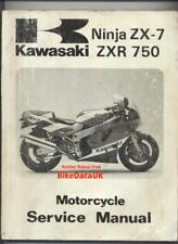 Manuale OFFICINA KAWASAKI ZXR 750 zx750h manuale di riparazione
