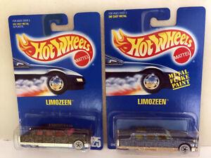 Hot Wheels Vintage All Blue Card #174 & #225 Limozeen, Limousine, Variation Pair